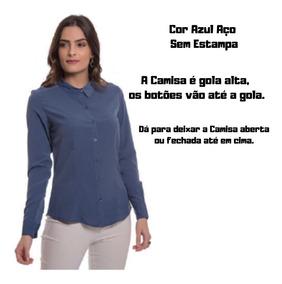 Camisa Social Feminina Aishty Moderna E Tradicional P Ao Xgg