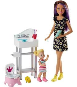 Boneca Barbie - Skipper Babysister - Banheiro