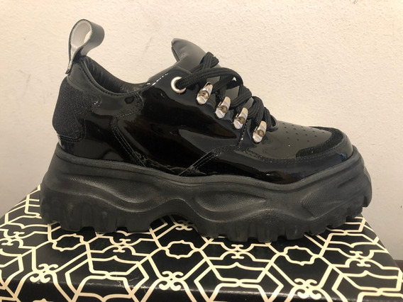Zapatillas Paruolo Charoladas Sneakers Talle 38 Nuevas