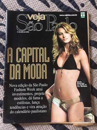 Revista Veja São Paulo Fashion Week Gisele Bundchen Musa Mod