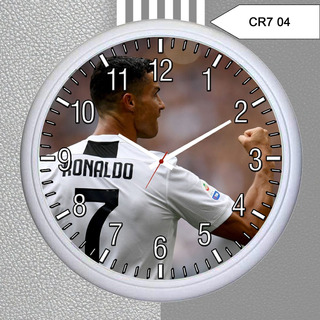 Relógio De Parede Personalizado Cristiano Ronaldo, Cr7