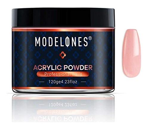Modelones Polvo Acrílico Para Uñas De Color Nude Natural