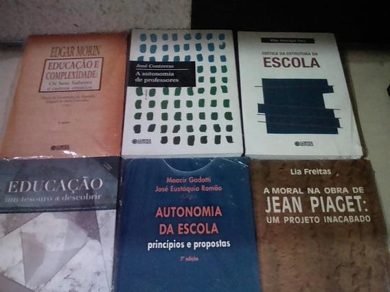 06 Livros Frete Grátis + 12 Vezes S/juros Educação Piaget +