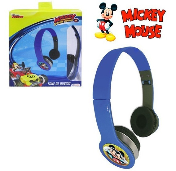 Fone De Ouvido Infantil Criança Dobravel Mickey Mouse