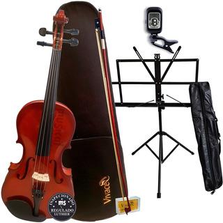 Viola De Arco 4/4 Vivace Vmo44 Mozart + Estante + Afinador