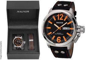 Relógio Magnum Masculino Military Ma31524c + Brinde + Nota