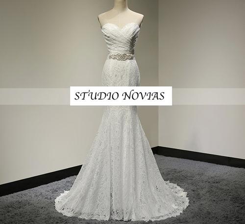 Vestido De Novia Nuevo Barato Modelo A1 Vestido Ivory Blanco