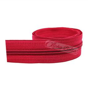 Ziper Nº 05 Médio 100% Poliéster - Com 200 Metros Vermelho