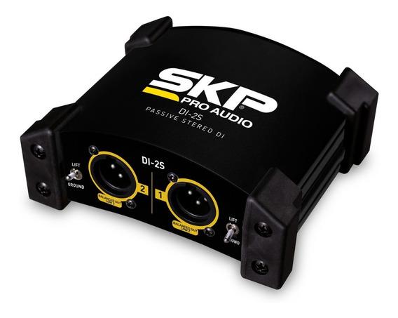 Direct Box Skp Di-2s 2 Canais Passivo Stéreo