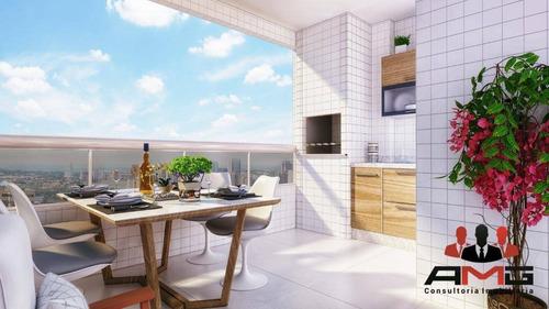 Imagem 1 de 12 de Apartamento Na Praia Grande - Vila Tupi - Ap3043