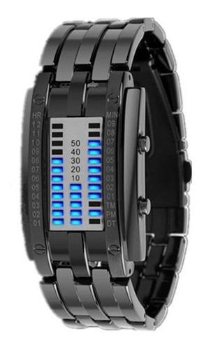 Imagen 1 de 6 de Reloj Impermeable Binario De Pantalla Electrónica Enchapado