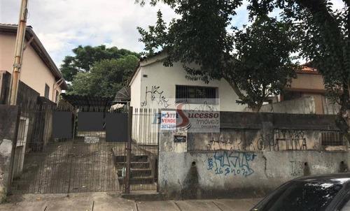 Terreno À Venda, 500 M² Por R$ 1.600.000,00 - Vila Formosa (zona Leste) - São Paulo/sp - Te0272