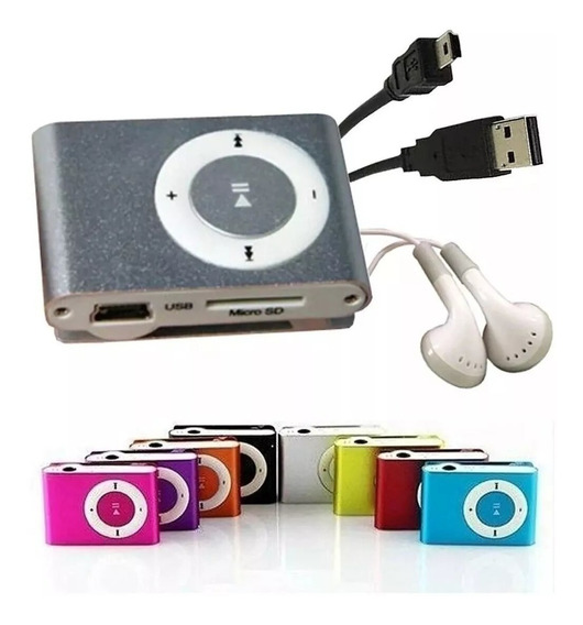 Mp3 Reproductor Shuffle Nano Micro Sd Mini Usb Audífonos