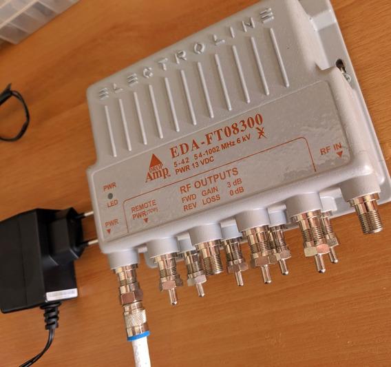 Electroline Eda-ft08300 Amplificador Cabo Coaxial Modem Net