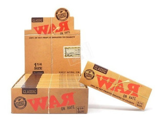 Caja 24 Packs Raw Classic War On Hate 1¼ Papel Para Liar