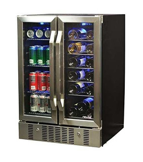 Newair Awb-360db 18 Bottle 60 Can Refrigerador De Vino Y !