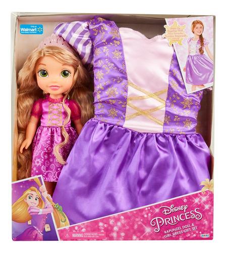 Disney Princesa Muñeca Con Disfraz-rapunzel Jakks Pacific In