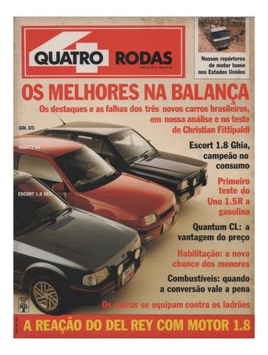Quatro Rodas Nº349 Gol Gti Kadett Gs Escort Xr3 1.8 Uno 1.5r