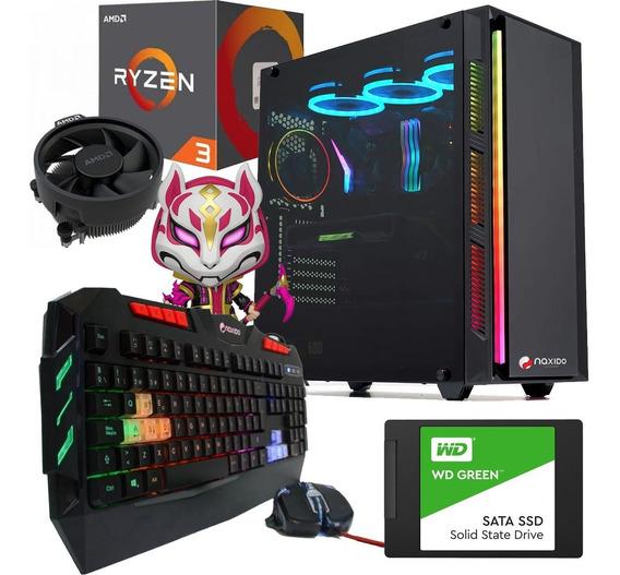 Pc Gamer Ryzen 3 Gabinete Coolers Rgb Ssd 8gb Ram Video Vega