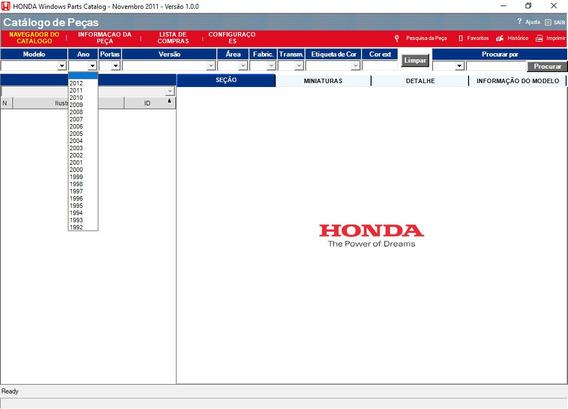 Catálogo Eletrônico Peças Honda Brasil Fit 2004 Ate 2011