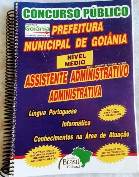 Apostila Concurso Assistente Administrativo Pm De Goiânia Go