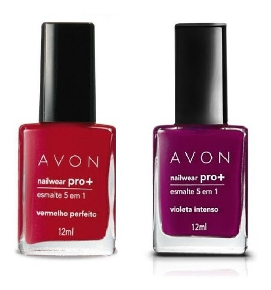Avon - Nailwear Pro + - Esmalte 5 Em 1 - Kit Com 2 Cores