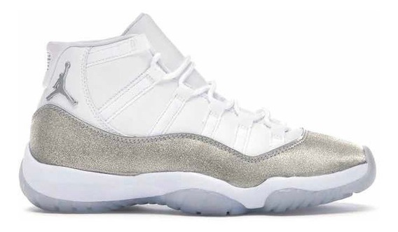 Sneakers Original Jordan 11 Retro Blanco Plateado