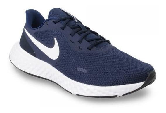 Tênis Esportivo Nike Revolution Marinho Branco Bq3204