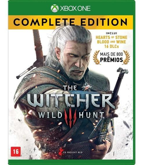 Jogo The Witcher 3 Wild Hunt Complete Edition Xbox One Midia Fisica Original Lacrado Dublado Português Promoção