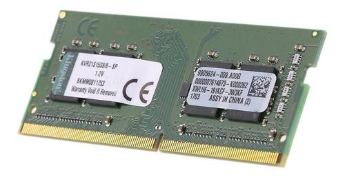 Memória RAM 8GB 1x8GB Kingston KVR21S15S8/8 ValueRAM