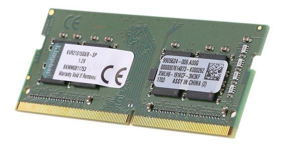 Memória RAM 8 GB 1x8GB Kingston KVR21S15S8/8