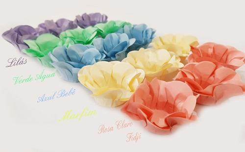 50 Forminhas Doces Finos Modelo Flor Papel Candy Color