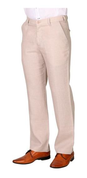 Abito Pantalón De Lino Mod. Básico Slim, 100% Lino