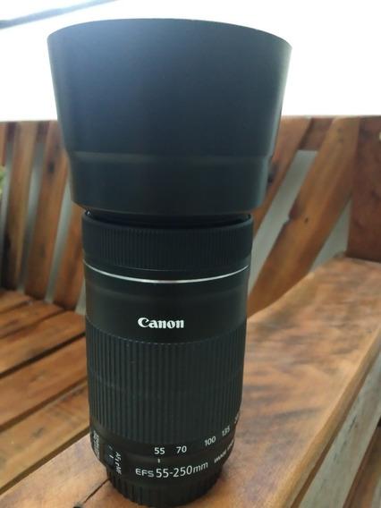 Lente Canon 55 250mm Novinha