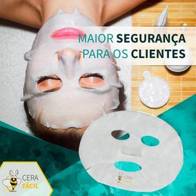 Máscara Descartável Limpeza Facial Tnt 25un Cera Fácil 4pct