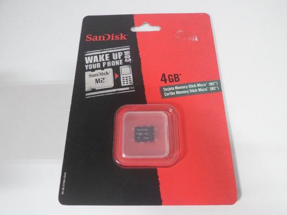 Cartão Memória M2 4gb Sandisk - Novo Lacrado