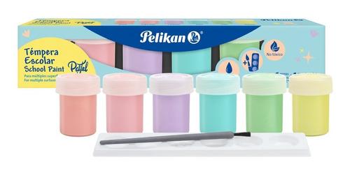 Tempera Escolar Pastel Pelikan X 6 Uds