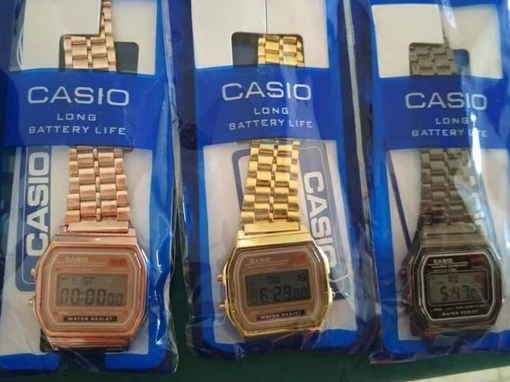 Reloj Unisex Digital A168 Retro Vintage Mayoreo Desde 1 Pza