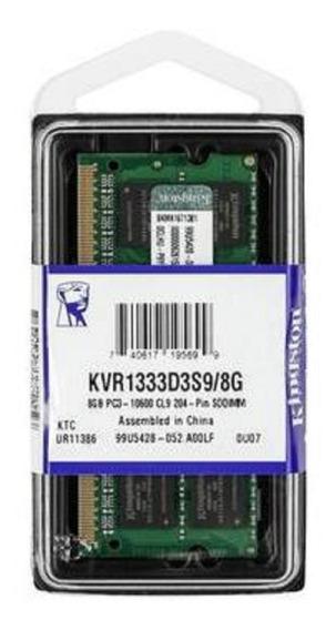 Memória Kingston Ddr3 1333mhz 8gb Alienware Phantom M11x R3