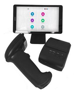Punto De Venta (plata) Lector De Barras + Tablet + Impresora