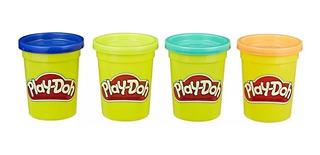 Play Doh Set De 4 Potes De Colores Masas Original Hasbro