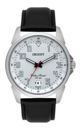Relógio Orient Masculino Couro Preto Mbsc1031 S2px Novo