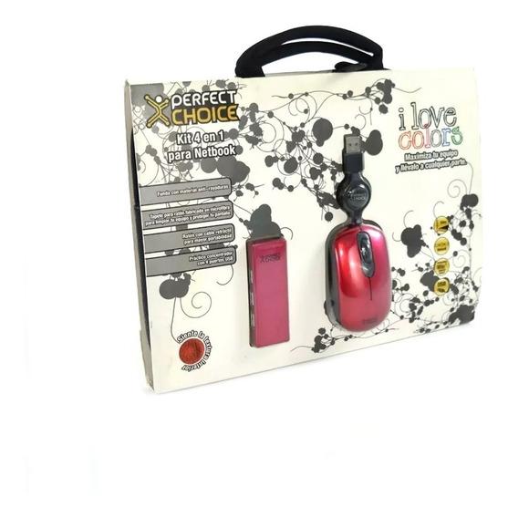 Perfect Choice Kit 4 En 1 Maletin Para Netbook Pc-981428 P*