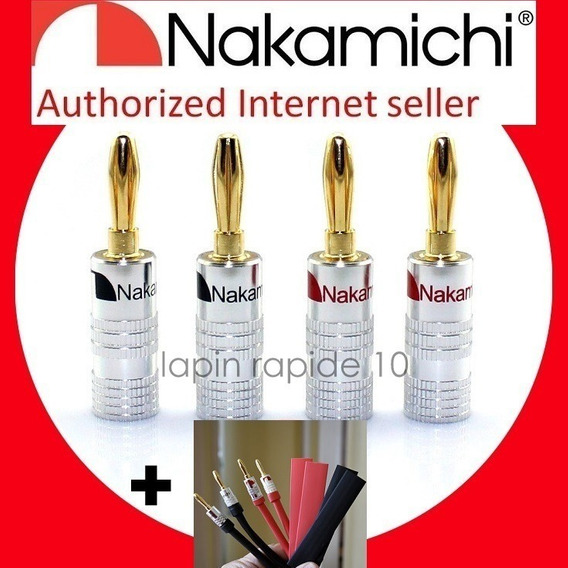 16 Plugs Nakamichi Made In Japan + 16 Protetores Top Em Sp