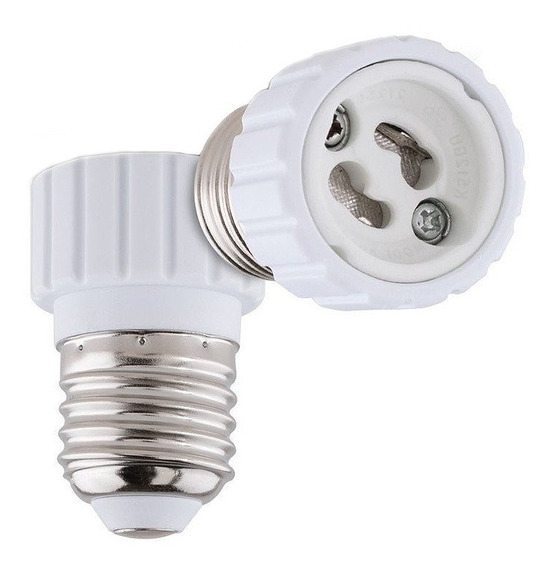 Soquete Adaptador Branco E27 Para Lampada Gu10