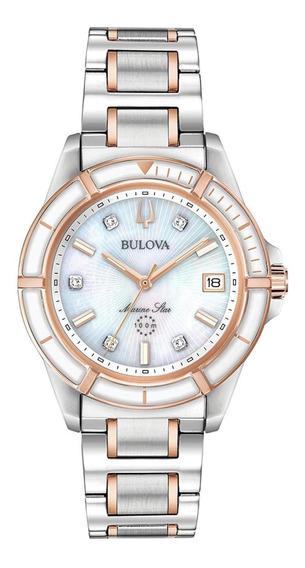 Relógio Feminino Bulova Marine Star Aço 98p187