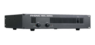 Potencia Amplificador Phonic Max-1500 De 900w Rms
