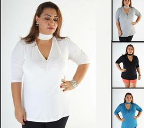d5ad8d67d136 Blusas Femininas Plus Size Rupas Femininas Tamanhos Grandes. 4 cores. R$ 375