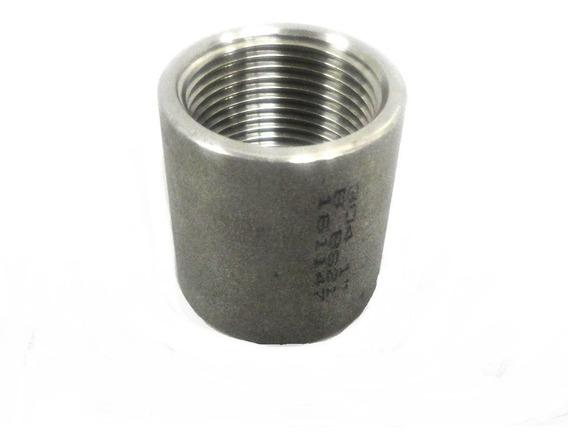 Luva Em Aço Inox 304 Com Rosca Bsp Ø 1
