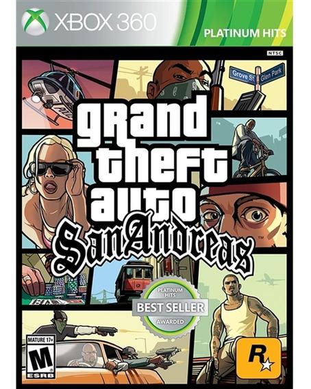Grand Theft Auto: San Andreas - Xbox 360 Lacrado